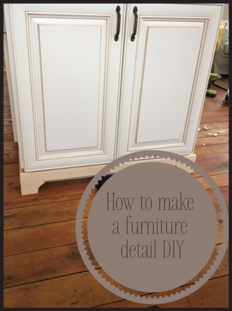 How To Add A Furniture Detail Kitchen Cabinets