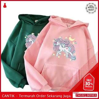 FNC221S33 Sweater Jaket Hodie Poney Wanita Kuda Babyterry Serba 50 Ribuan