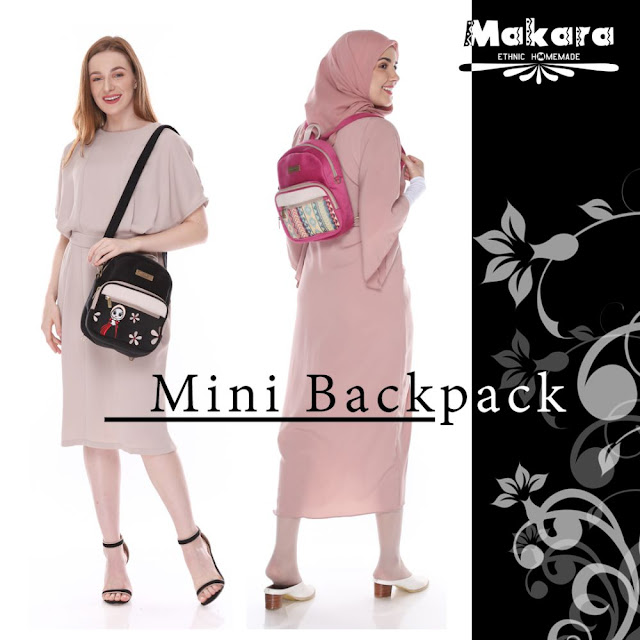 makara etnik tas mini backpack fashion wanita