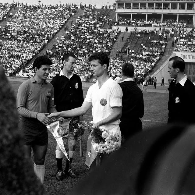 Alemania Democrática y Chile en partido amistoso, 2 de julio de 1966