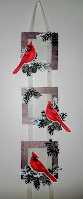 toile christmas hanging frames 3