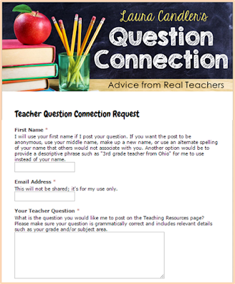 Got teacher questions? Now you can submit them anonymously in this Google Doc form to be shared with the followers of the Teaching Resources Facebook page. If your question is posted, you're likely to get dozens of awesome responses from real teachers!
