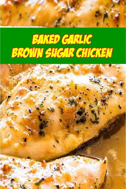 #Baked #Garlic #Brown #Sugar #Chicken