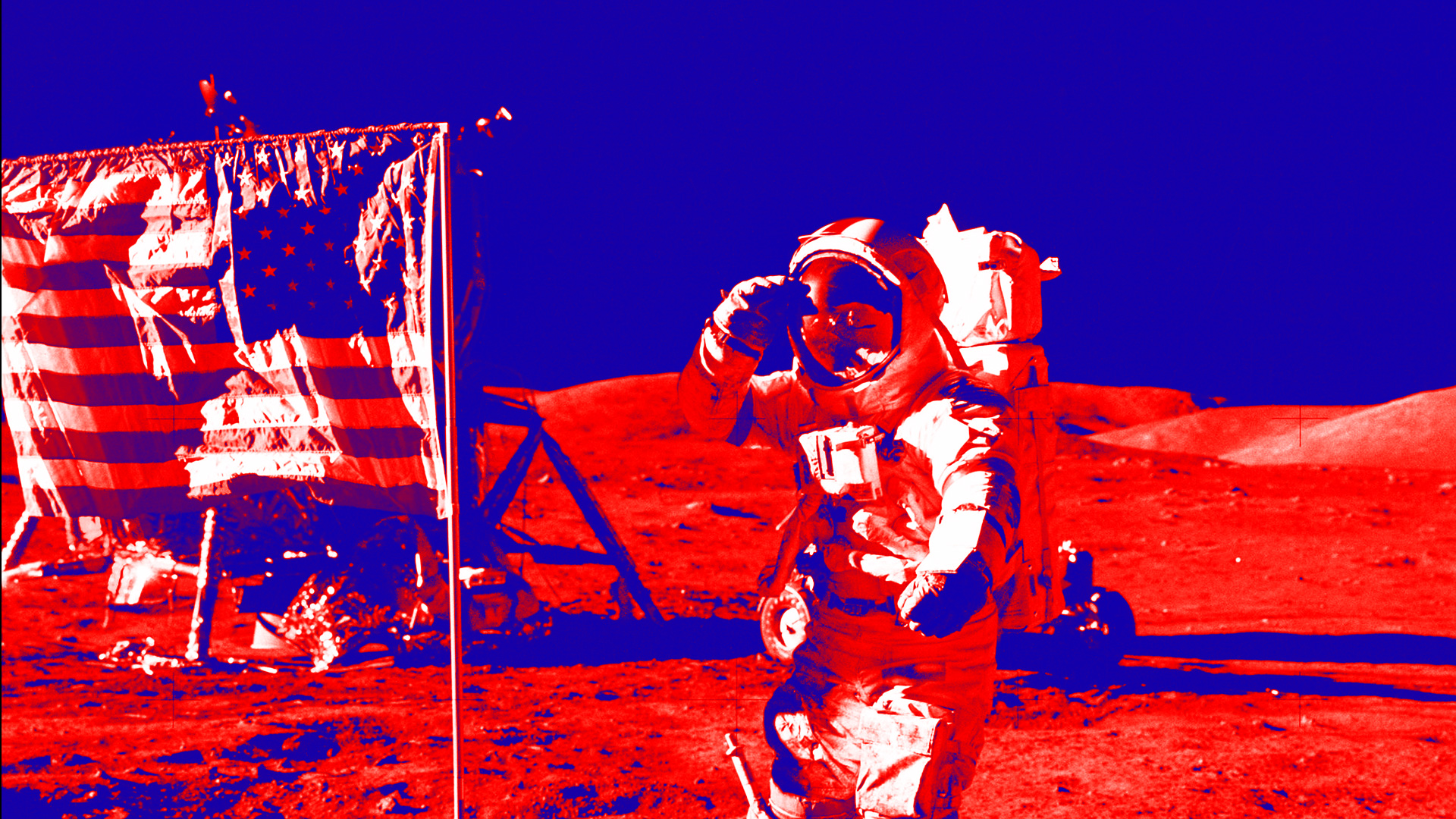 Moon Landing by America - presentation Background