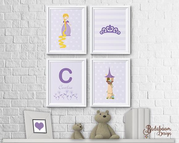 Rapunzel, enrolados, arte digital, kit digital, arte personalizada, poster, pôster, posteres, posters, quadro, quadrinho, decoração, decoração quarto infantil, decoração quarto menina