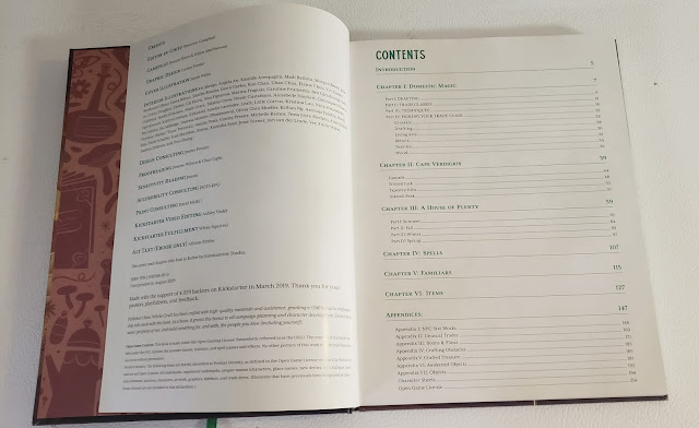 Witch+Craft table of contents