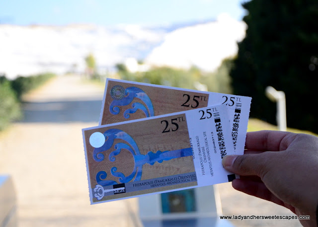 Pamukkale Hierapolis entrance ticket