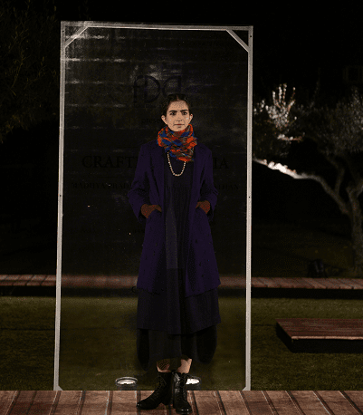 Rina Singh at FDCI presents Crafted in India, representing Gujarat