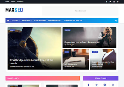 MaxSeo Blogger Template 2020