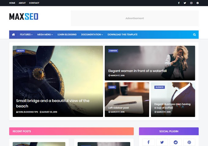 MaxSeo Blogger Template Download Free 2020 | Seo Friendly | easy to Customize