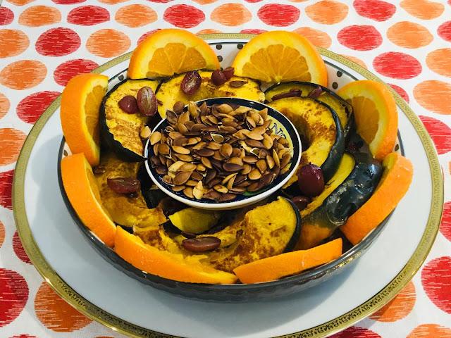 acorn squash and oranges