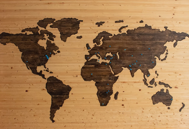 Pin Map of the World
