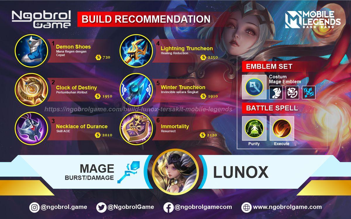 Build Lunox Top Global Tersakit Mobile Legends
