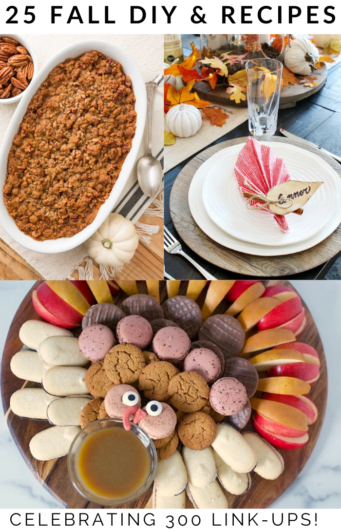 fall-thanksgiving-casserole-table-setting-and-turkey-shaped-dessert-idea