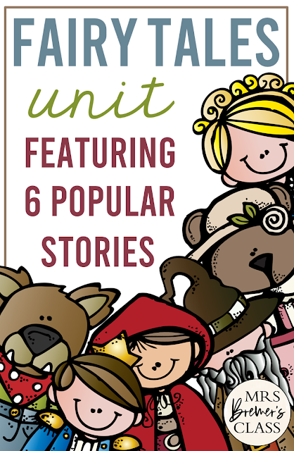 Fairy Tales unit with Common Core aligned literacy activities for First Grade and Second Grade