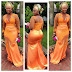 Simple And Elegant Aso Ebi Gown Style For Ladies
