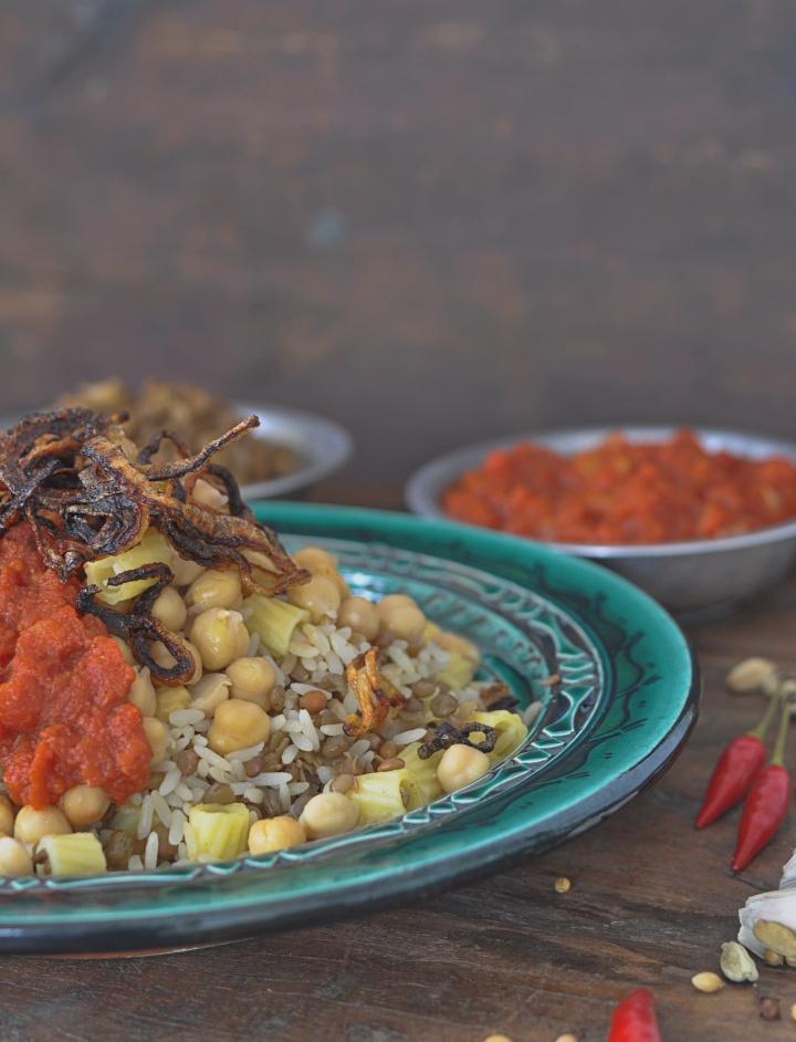 Koshary, a delicious dish from Egypt