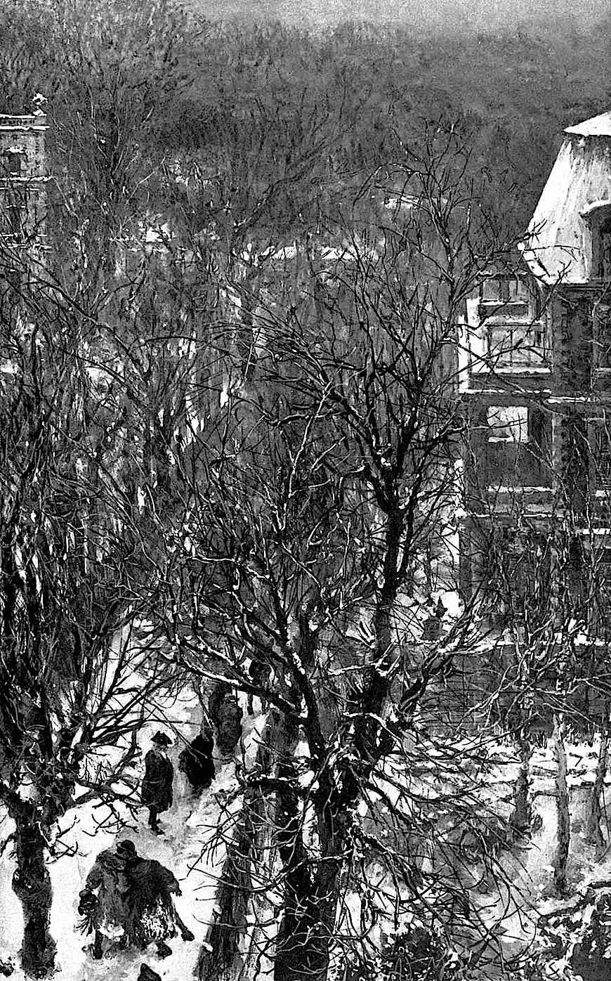 Adolph Von Menzel winter scene