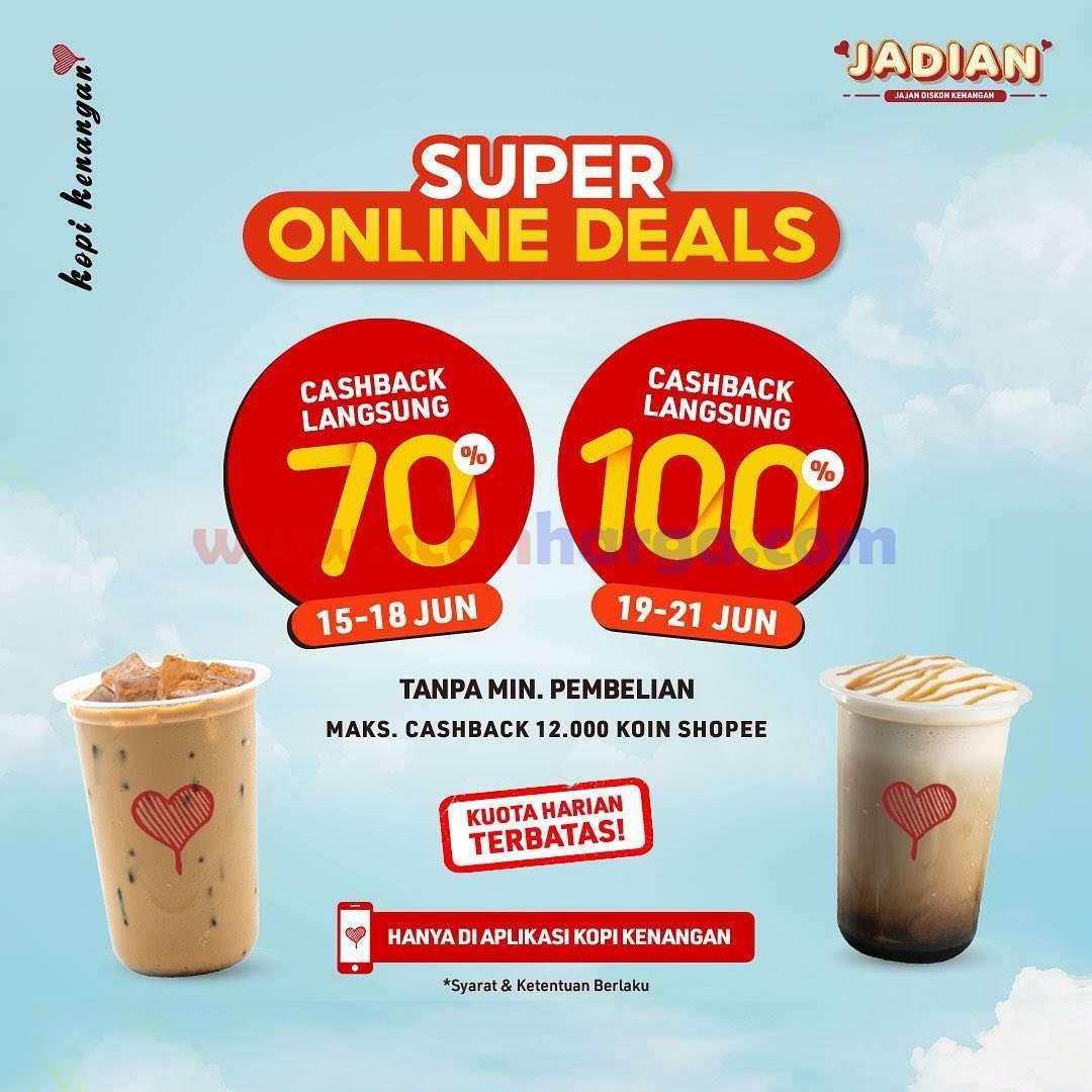 Kopi Kenangan Promo ShopeePay Online Deals spesial Cashback 100%