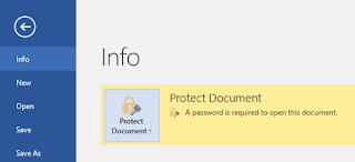 Cara Melindungi File Dokumen Office Word dengan Password