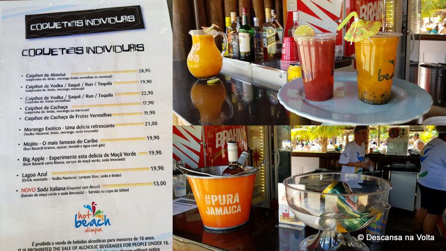 Bebidas Hot Beach Olímpia