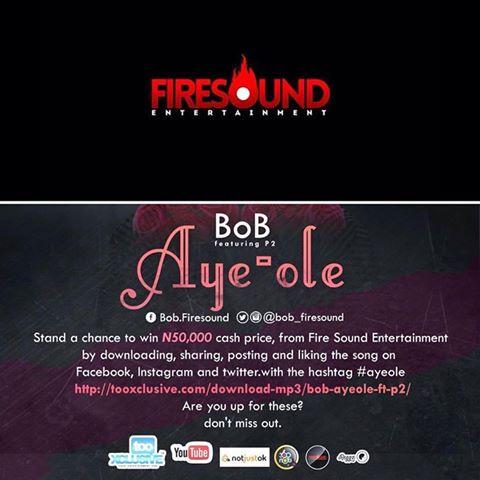TO Win 50,000 NAIRA Just follow @Bob_firesound @fireSoundNG