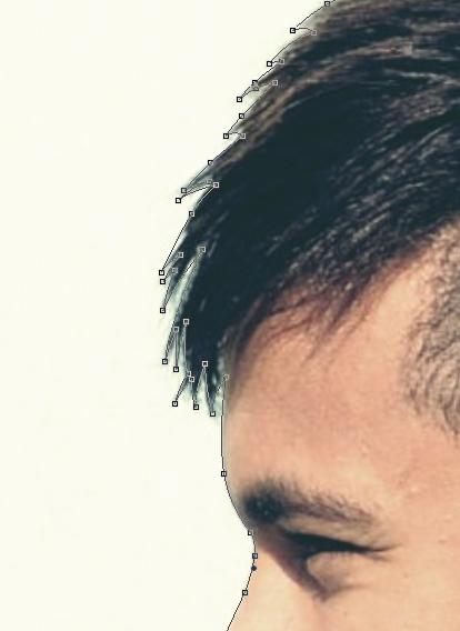 Membentuk shape dengan pen tool untuk siluet wajah di photoshop cs6