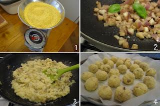 foto preparazione Ricetta crocchette di miglio e melanzane perline per bambini