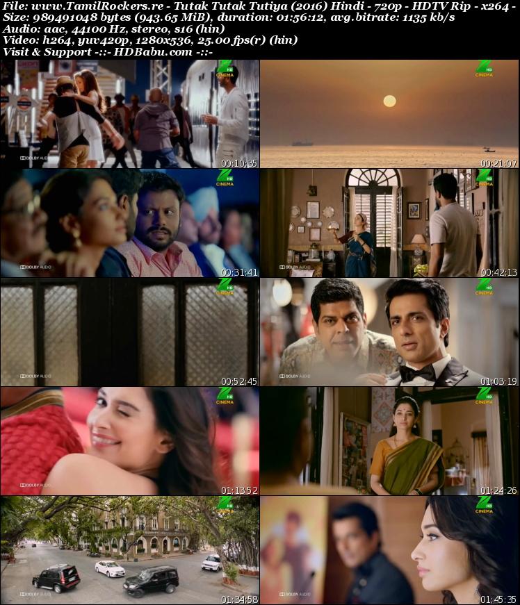 Tutak Tutak Tutiya (2016) Hindi - 720p - HDTV Rip - x264 - 950MB