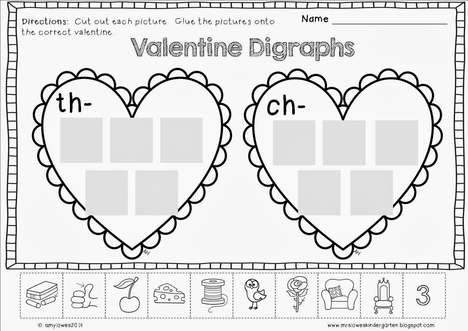 Mrs Lowes Kindergarten Korner No Prep Valentine S Day