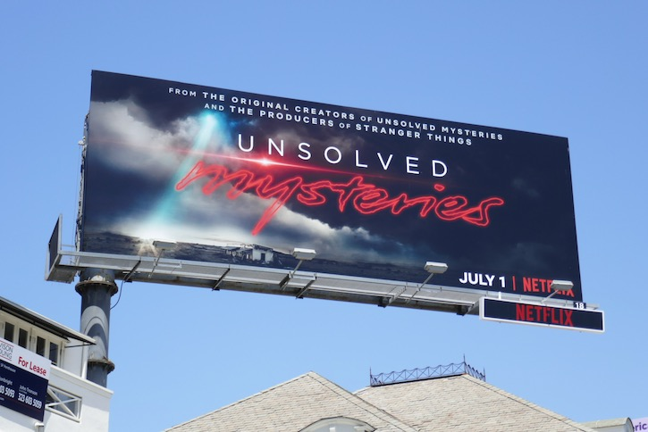 Unsolved Mysteries series premiere billboard