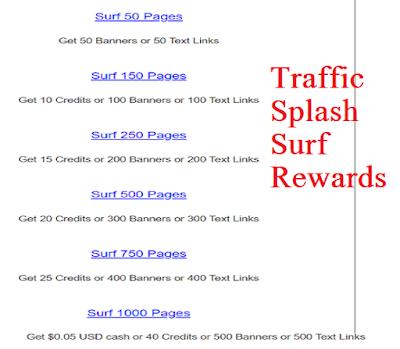 Traffic Splash surf rewards