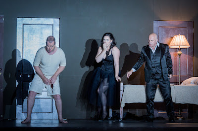 ENO Don Giovanni James Creswell, Caitlin Lynch and Christopher Purves (c) Robert Workman