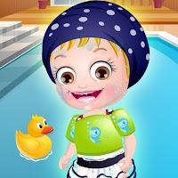 بيبي هازل تتعلم السباحة