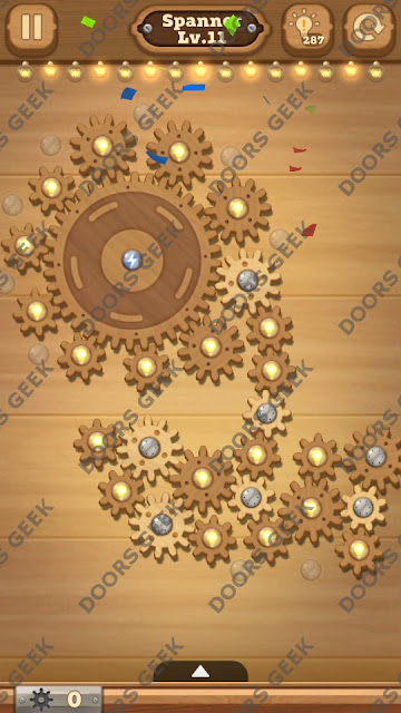 Fix it: Gear Puzzle [Spanner] Level 11 Solution, Cheats, Walkthrough for Android, iPhone, iPad and iPod