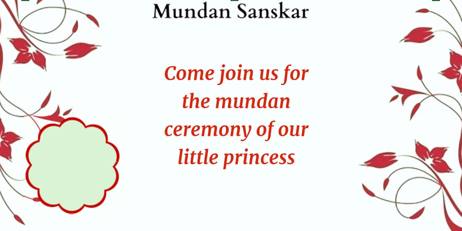 mundan ceremony invitation card design