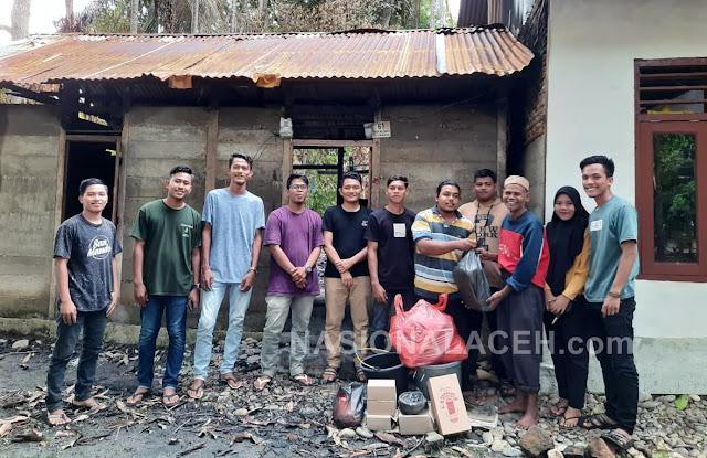 Bantu Korban Kebakaran, Ikatan Mahasiswa Pemuda Pelajar Pasie Raja Salurkan Bantuan