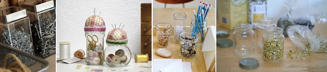 Frascos de vidro