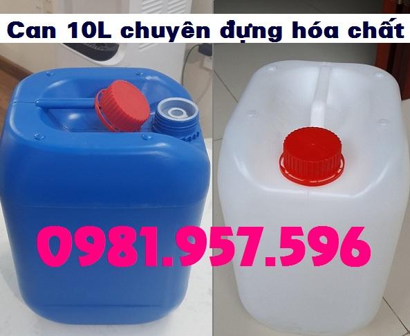 Can nhựa chuyên hóa chất 10L, can hóa chất xanh 10L