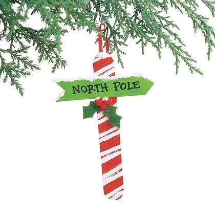 Candy Cane Signpost