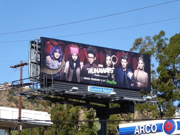 Runaways series launch billboard