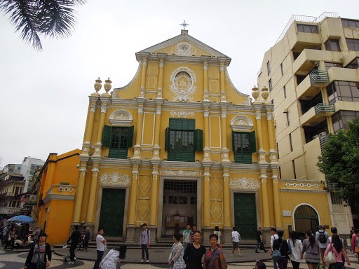 The facade of Sto. Domingo Church (St. Dominic Church) in Macau