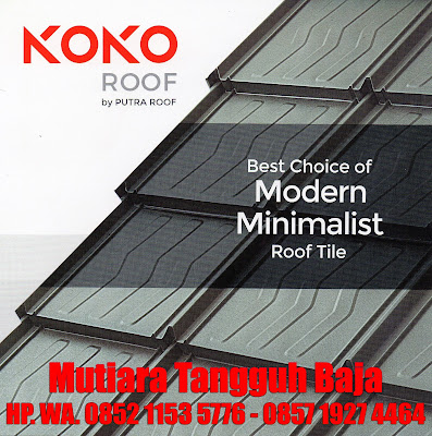 Distributor Genteng Metal Minimalis Koko Roof Area Jakarta dan Sekitarnya