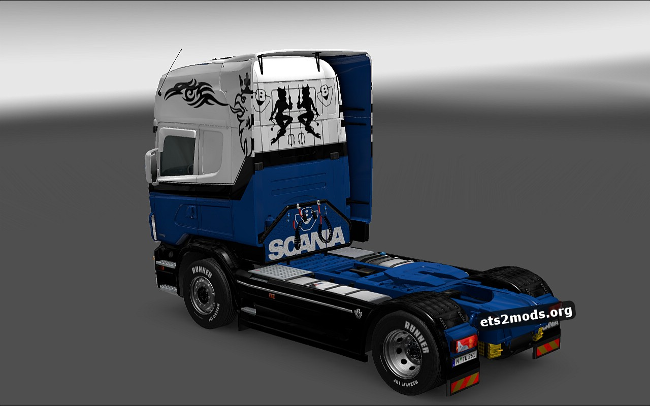 Old School Queen Skin for Scania RJL