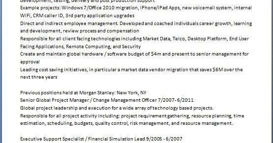 global banking program manager sample resume format in
