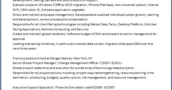 direct and manage project work example cv