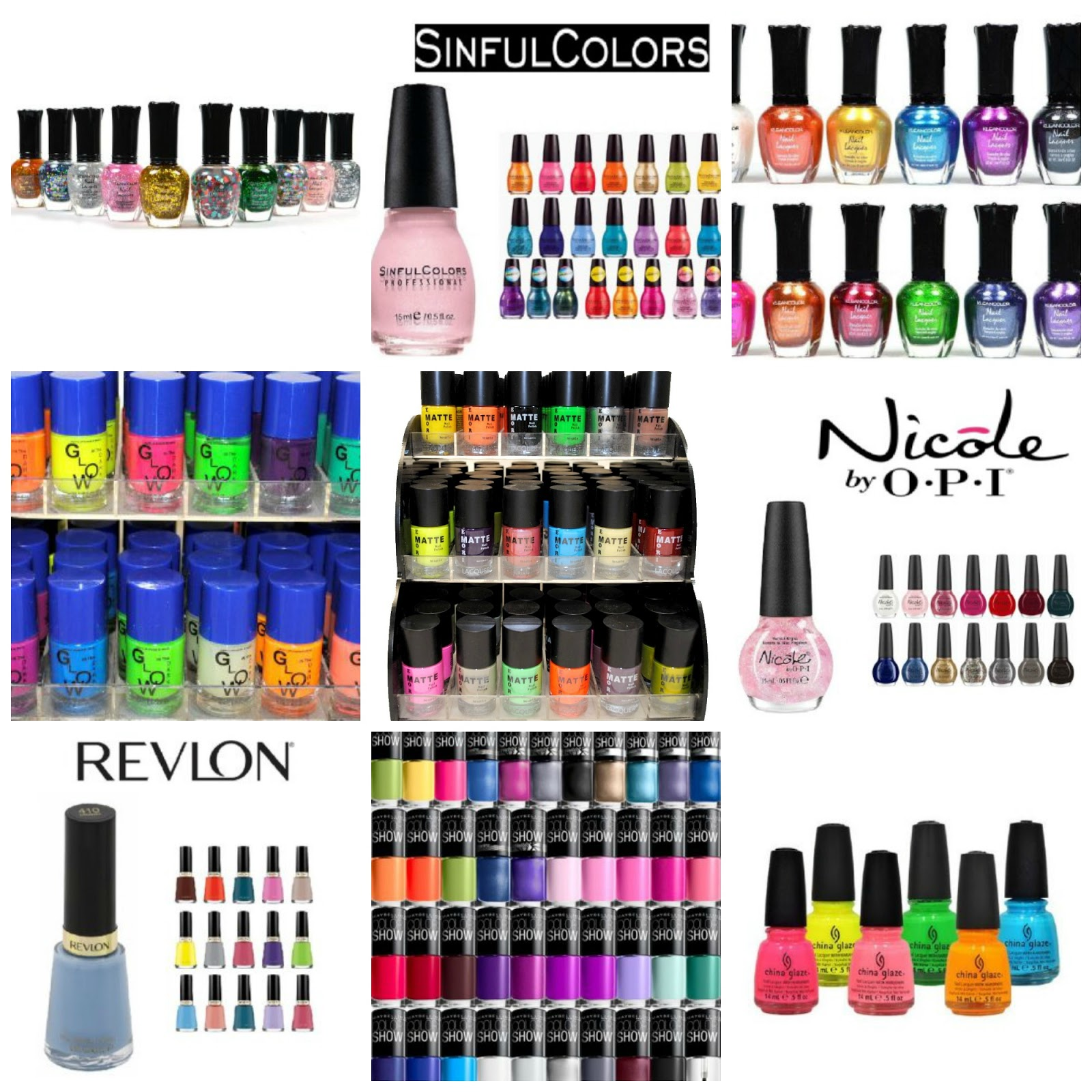 Amazon: Kleancolor Nail Polish GLITTER SET! Lot of 10 Lacquer + Free ...