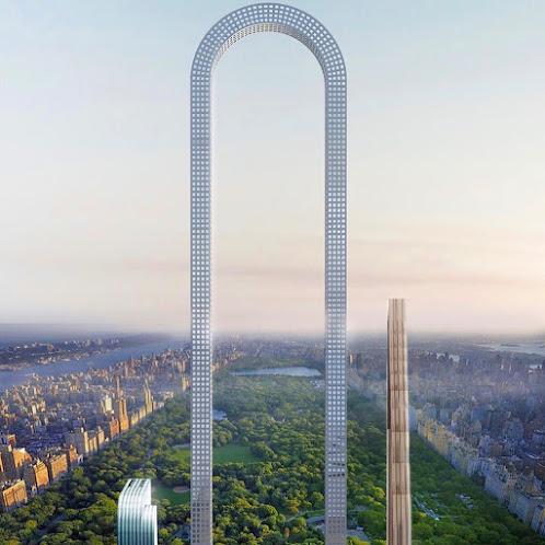 Tòa tháp bẻ cong hình chữ U