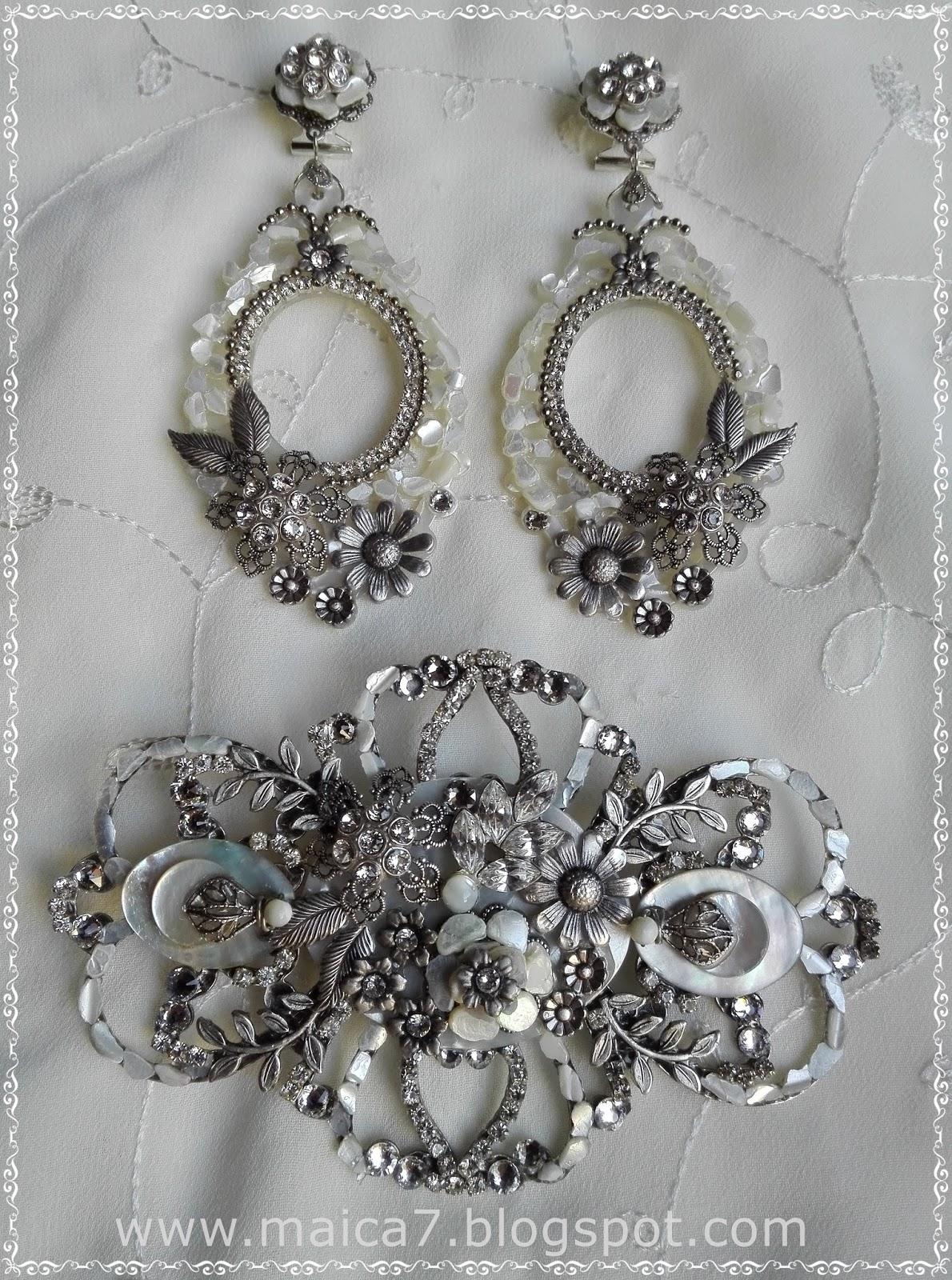 Complementos para novias pendientes y tocados bisuter a - Complementos de bisuteria ...