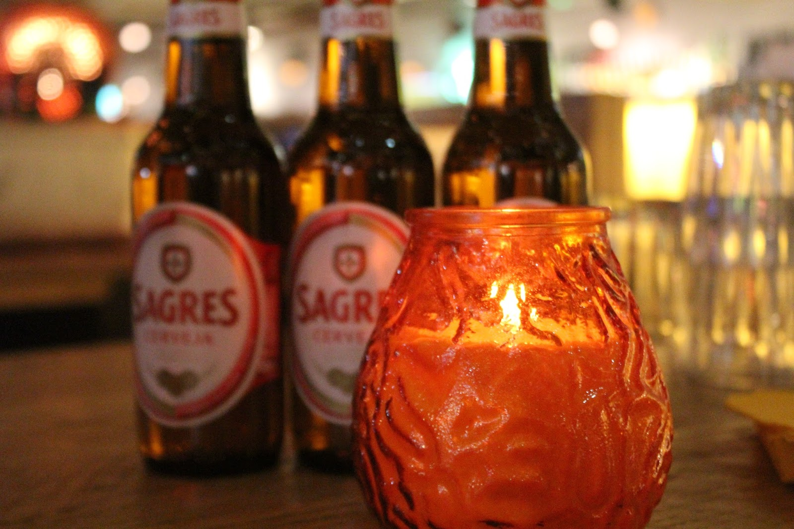 Sagres beer at Cabana Leeds